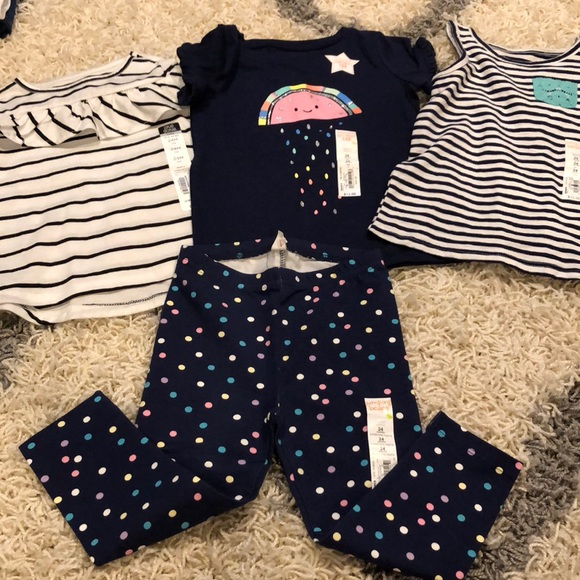0e582a5b2a836 jumping beans Shirts & Tops | 4 Items Baby Girl Shirts And Pants Sz ...
